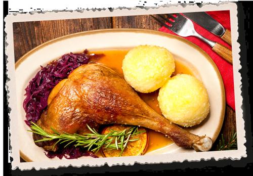 Martinsgans, Gans, waldfrieden, Gaststätte, Leipzig, Weihnachten, Weihnachtsfeier, Rotkraut, Klöße